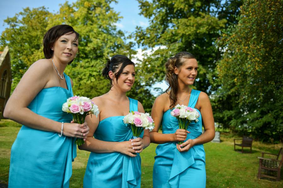 Wedding at St James Church in Weddington, Warwickshire
