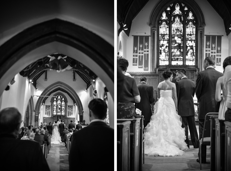 Wedding at St James Church in Weddington, Warwickshire
